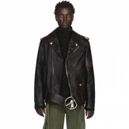 Loewe Black William De Morgan Leather Oversized Biker Jacket 201677M18000304GB