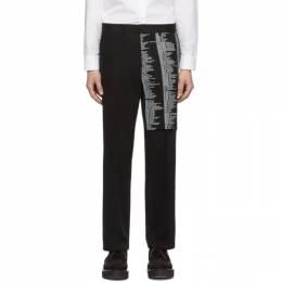 Yang Li Black Samizdat Chino Trousers 192505M19100104GB