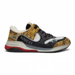 Gucci Yellow and Black Ultrapace Sneakers 192451M23705311GB