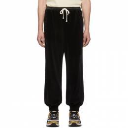 Gucci Black Chenille Jogging Lounge Pants 192451M19002306GB