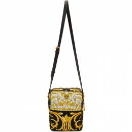 Versace Black and Gold Barocco Crossbody Bag 201404M17010801GB