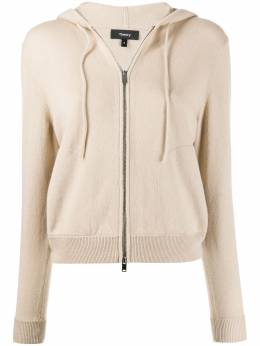 Theory hooded zip-front cardigan J1018704