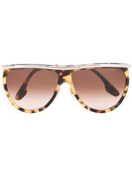 Victoria Beckham массивные солнцезащитные очки с эффектом градиента VB155S