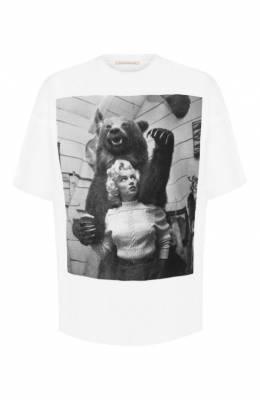 Хлопковая футболка Christopher Kane 576475/ULJ03