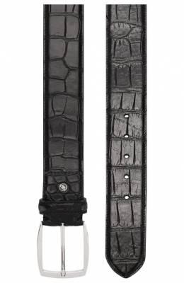 Ремень из кожи аллигатора Brioni 0BAE0L/P8722/AMIS