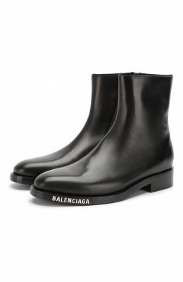 Кожаные сапоги Balenciaga 590717/WA6F0