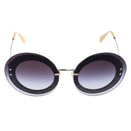 Miu Miu Black/Grey Gradient SMU 10R Round Sunglasses 248343