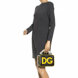 Dolce&Gabbana Black/Yellow Coated Canvas DG Girls Crossbody Bag