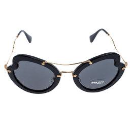 Miu Miu Black/Grey SMU 11R Butterfly Sunglasses 248387