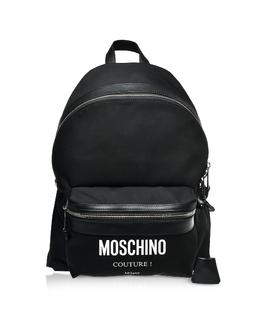 Черный Фирменный Рюкзак из Нейлона Moschino 7606 8201 A2555 BLACK
