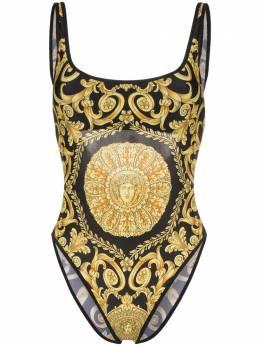 Versace купальник с открытой спиной и принтом ABD09035AL00130