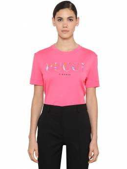Logo Printed Cotton Jersey T-shirt Emilio Pucci 71IM5T056-MzYy0