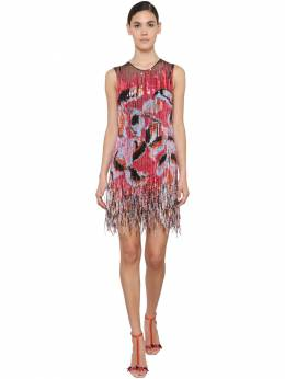 Embellished Mini Dress W/ Fringe Emilio Pucci 71IM5T054-MDAy0