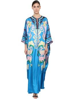 Printed Silk Twill Caftan Dress Emilio Pucci 71IM5T047-UDEz0