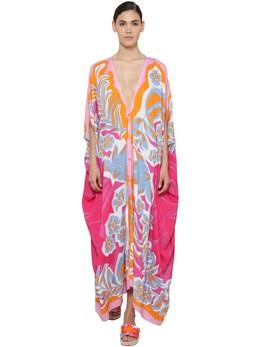 Printed Viscose Caftan Dress Emilio Pucci 71IM5T020-MDcz0