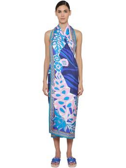 Convertible Printed Silk Twill Dress Emilio Pucci 71IM5T009-MDIz0