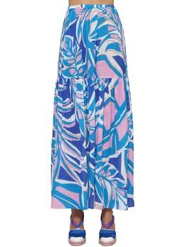 Rustic Printed Cotton Skirt Emilio Pucci 71IM5T007-MDYw0
