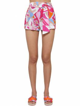 Rustic Printed Cotton Shorts Emilio Pucci 71IM5T005-MDYx0