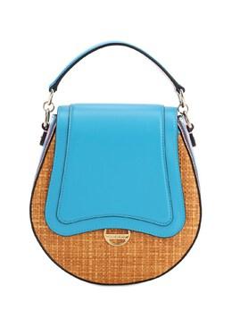 Dora Raffia & Leather Top Handle Bag Emilio Pucci 71IM58002-QTE50