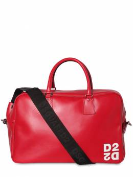 Logo Print Leather Bowling Bag Dsquared2 71IG7F045-NDA2NQ2