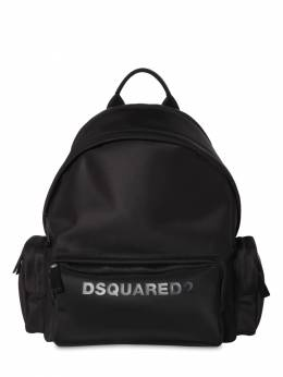 Logo Print Nylon Backpack W/ Piping Dsquared2 71IG7F039-TTQzNg2