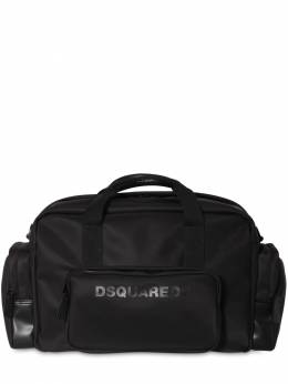 Logo Print Nylon Duffle Bag W/ Piping Dsquared2 71IG7F038-TTQzNg2