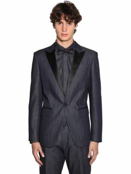 Berlin Light Cotton Denim Tuxedo Blazer Dsquared2 71IG7E142-NDcw0