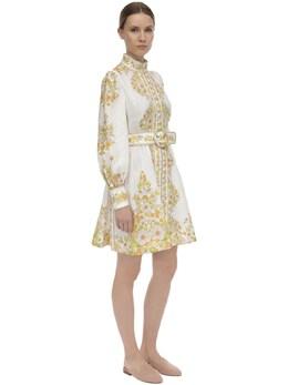 Printed Linen Mini Dress Zimmermann 71IRSQ022-UElOSyBNRUFET1c1