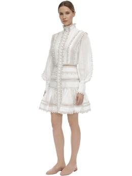 Button Up Linen Mini Dress Zimmermann 71IRSQ006-SVZPUlk1