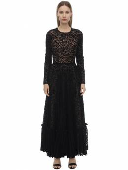 Velvet & Lace Midi Dress Ingie Paris 70I5BT015-Tk9JUg2