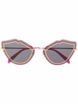 Emilio Pucci солнцезащитные очки в оправе 'кошачий глаз' EP0134