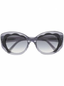Emilio Pucci круглые солнцезащитные очки с эффектом градиента EP0136