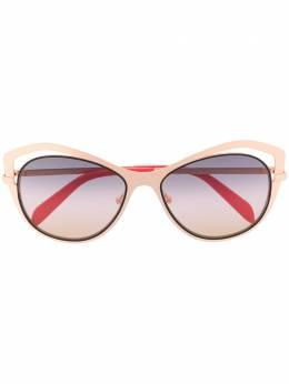 Emilio Pucci солнцезащитные очки в оправе 'бабочка' с вырезными деталями EP0130