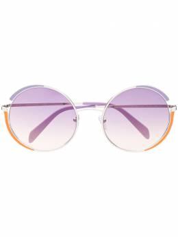 Emilio Pucci круглые солнцезащитные очки с эффектом градиента EP0132