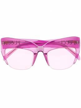 Emilio Pucci солнцезащитные очки в массивной полуоправе EP0138
