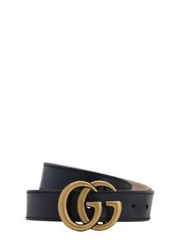 Logo Leather Belt Gucci 71IFHA023-NDAwOQ2