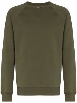Balmain ribbed crew neck sweatshirt TH13124I240