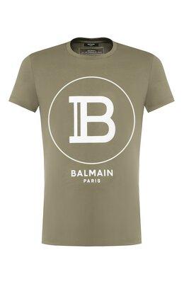 Хлопковая футболка Balmain TH11601/I201