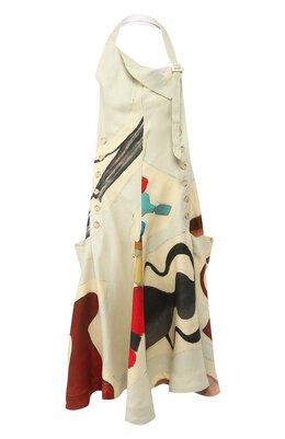 Платье из смеси вискозы и льна Jacquemus 194DR14/48053