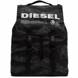 Diesel Black and Grey Volpago Backpack 201001M16610401GB
