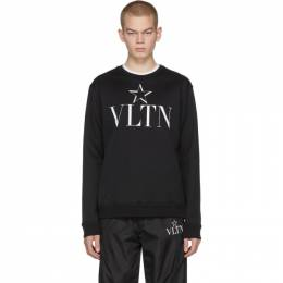 Valentino Black VLTN Star Jersey Sweatshirt TV3MF10V63A