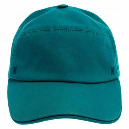 Hermes Malachite Green Cotton Jump Baseball Cap