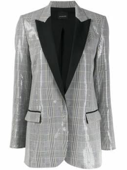 Pinko check print sequinned blazer 1N12QM8147MOSCOWMULE1