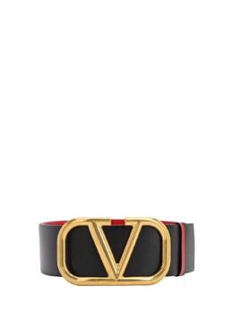 "Двухсторонний Кожаный Ремень ""go Logo"" 70мм Valentino 71IW94064-MFNN0"