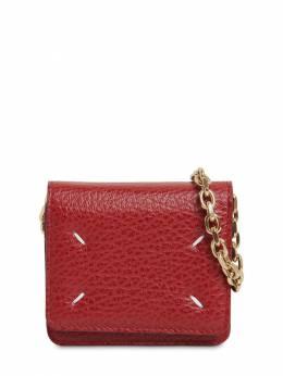 Mini Leather Wallet Chain Maison Margiela 71IM6A025-VDQwNzQ1