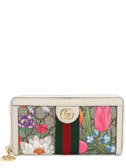 Flora Gg Supreme Zip Around Wallet Gucci 71IIJS058-OTc1OQ2