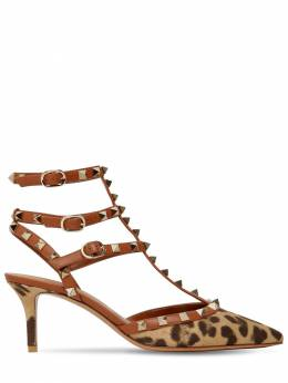 65mm Rockstud Cotton & Leather Pumps Valentino 71IAG2026-MEFD0