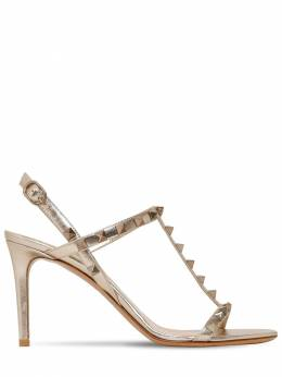 85mm Rockstud Metallic Leather Sandals Valentino 71IAG2022-UzY50
