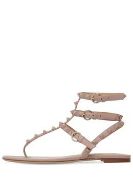 10mm Rockstud Leather Sandals Valentino 71IAG2021-UDQ10