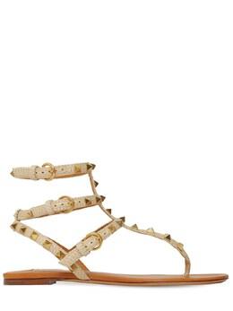 10mm Rockstud Woven Textile Sandals Valentino 71IAG2017-MTlK0